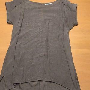 Short Sleeve Tunic Blouse